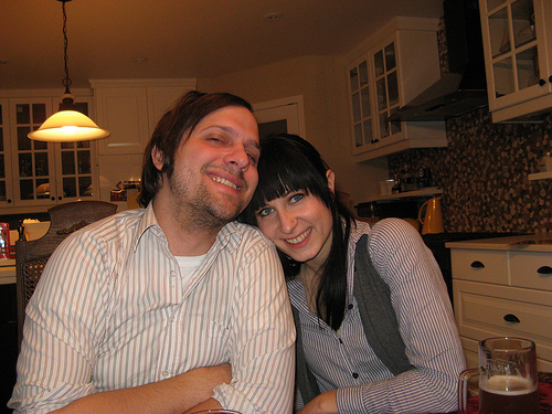 Chris with girlfriend Rena in 2011